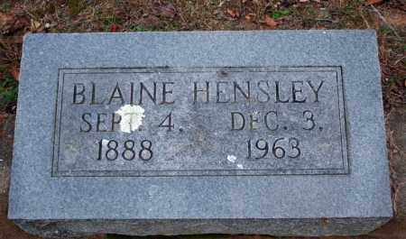 HENSLEY, BLAINE - Searcy County, Arkansas | BLAINE HENSLEY - Arkansas Gravestone Photos