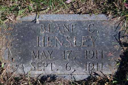 HENSLEY, BLANE C. - Searcy County, Arkansas | BLANE C. HENSLEY - Arkansas Gravestone Photos