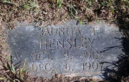 HENSLEY, JAUNITA E. - Searcy County, Arkansas | JAUNITA E. HENSLEY - Arkansas Gravestone Photos