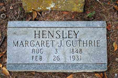 GUTHRIE HENSLEY, MARGARET J. - Searcy County, Arkansas | MARGARET J. GUTHRIE HENSLEY - Arkansas Gravestone Photos
