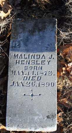 HENSLEY, MALINDA J. - Searcy County, Arkansas | MALINDA J. HENSLEY - Arkansas Gravestone Photos