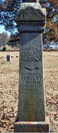 HENSLEY, PLUMMER - Searcy County, Arkansas | PLUMMER HENSLEY - Arkansas Gravestone Photos