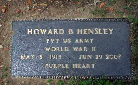 HENSLEY (VETERAN WWII), HOWARD B. - Searcy County, Arkansas | HOWARD B. HENSLEY (VETERAN WWII) - Arkansas Gravestone Photos