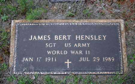 HENSLEY (VETERAN WWII), JAMES BERT - Searcy County, Arkansas | JAMES BERT HENSLEY (VETERAN WWII) - Arkansas Gravestone Photos