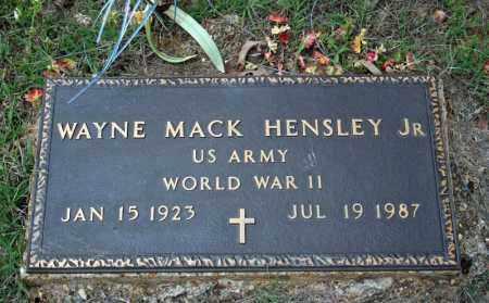 HENSLEY, JR (VETERAN WWII), WAYNE MACK - Searcy County, Arkansas | WAYNE MACK HENSLEY, JR (VETERAN WWII) - Arkansas Gravestone Photos