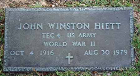 HIETT  (VETERAN WWII), JOHN WINSTON - Searcy County, Arkansas | JOHN WINSTON HIETT  (VETERAN WWII) - Arkansas Gravestone Photos