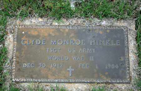 HINKLE (VETERAN WWII), CLYDE MONROE - Searcy County, Arkansas | CLYDE MONROE HINKLE (VETERAN WWII) - Arkansas Gravestone Photos