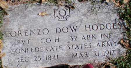 HODGES  (VETERAN CSA), LORENZO DOW - Searcy County, Arkansas | LORENZO DOW HODGES  (VETERAN CSA) - Arkansas Gravestone Photos