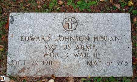 HOGAN (VETERAN WWII), EDWARD JOHNSON - Searcy County, Arkansas | EDWARD JOHNSON HOGAN (VETERAN WWII) - Arkansas Gravestone Photos
