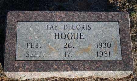 HOGUE, FAY DELORIS - Searcy County, Arkansas | FAY DELORIS HOGUE - Arkansas Gravestone Photos