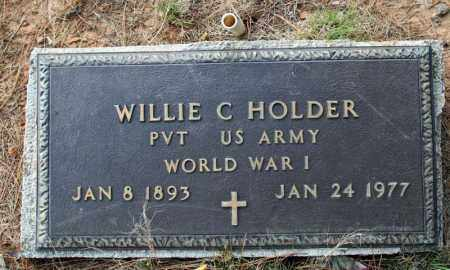 HOLDER (VETERAN WWI), WILLIE C - Searcy County, Arkansas | WILLIE C HOLDER (VETERAN WWI) - Arkansas Gravestone Photos