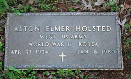 HOLSTED (VETERAN 2 WARS), ALTON ELMER - Searcy County, Arkansas   ALTON ELMER HOLSTED (VETERAN 2 WARS) - Arkansas Gravestone Photos