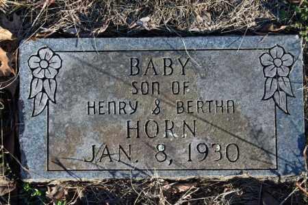 HORN, INFANT SON - Searcy County, Arkansas | INFANT SON HORN - Arkansas Gravestone Photos