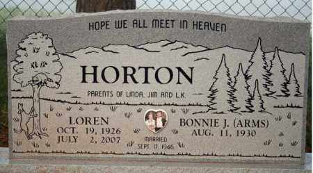 ARMS HORTON, BONNIE J. - Searcy County, Arkansas | BONNIE J. ARMS HORTON - Arkansas Gravestone Photos