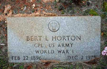 HORTON (VETERAN WWI), BERT L - Searcy County, Arkansas | BERT L HORTON (VETERAN WWI) - Arkansas Gravestone Photos