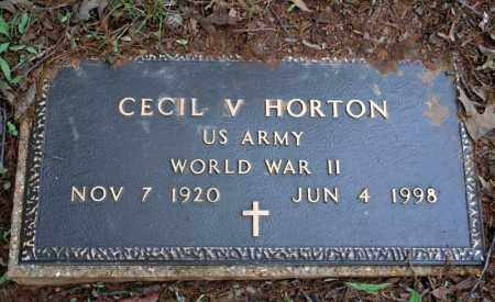 HORTON (VETERAN WWII), CECIL V - Searcy County, Arkansas | CECIL V HORTON (VETERAN WWII) - Arkansas Gravestone Photos