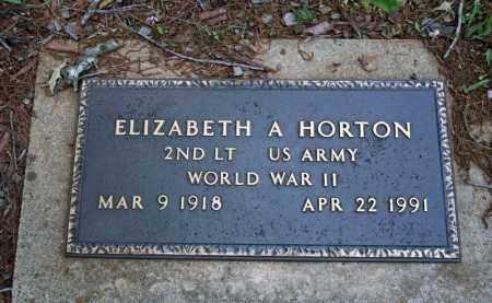 HORTON (VETERAN WWII), ELIZABETH A - Searcy County, Arkansas | ELIZABETH A HORTON (VETERAN WWII) - Arkansas Gravestone Photos