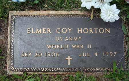 HORTON (VETERAN WWII), ELMER COY - Searcy County, Arkansas | ELMER COY HORTON (VETERAN WWII) - Arkansas Gravestone Photos