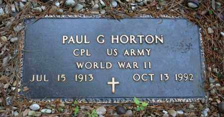 HORTON (VETERAN WWII), PAUL G - Searcy County, Arkansas | PAUL G HORTON (VETERAN WWII) - Arkansas Gravestone Photos