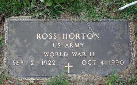 HORTON (VETERAN WWII), ROSS - Searcy County, Arkansas | ROSS HORTON (VETERAN WWII) - Arkansas Gravestone Photos