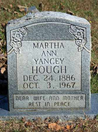 YANCEY HOUGH, MARTHA ANN - Searcy County, Arkansas | MARTHA ANN YANCEY HOUGH - Arkansas Gravestone Photos