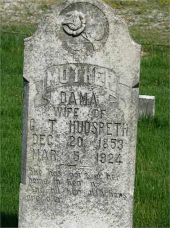 HUDSPETH, DAMA - Searcy County, Arkansas | DAMA HUDSPETH - Arkansas Gravestone Photos