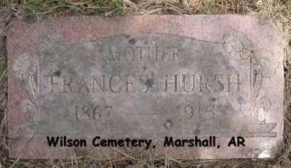 HURSH, FRANCES - Searcy County, Arkansas | FRANCES HURSH - Arkansas Gravestone Photos