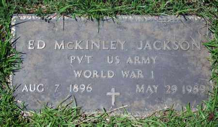 JACKSON (VETERAN WWI), ED MCKINLEY - Searcy County, Arkansas | ED MCKINLEY JACKSON (VETERAN WWI) - Arkansas Gravestone Photos