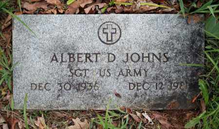 JOHNS (VETERAN), ALBERT D - Searcy County, Arkansas | ALBERT D JOHNS (VETERAN) - Arkansas Gravestone Photos