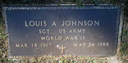 JOHNSON (VETERAN WWII), LOUIS A - Searcy County, Arkansas | LOUIS A JOHNSON (VETERAN WWII) - Arkansas Gravestone Photos