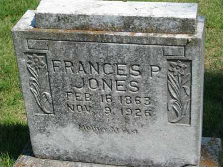 JONES, FRANCES P. - Searcy County, Arkansas | FRANCES P. JONES - Arkansas Gravestone Photos