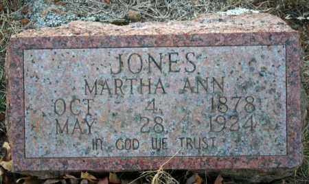 JONES, MARTHA ANN (CARR) - Searcy County, Arkansas | MARTHA ANN (CARR) JONES - Arkansas Gravestone Photos