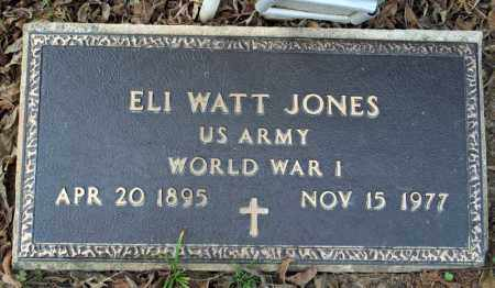 JONES (VETERAN WWI), ELI WATT - Searcy County, Arkansas | ELI WATT JONES (VETERAN WWI) - Arkansas Gravestone Photos