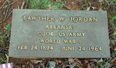 JORDAN (VETERAN WWI), LAWTHER W - Searcy County, Arkansas | LAWTHER W JORDAN (VETERAN WWI) - Arkansas Gravestone Photos
