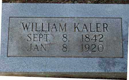 KALER, WILLIAM - Searcy County, Arkansas | WILLIAM KALER - Arkansas Gravestone Photos