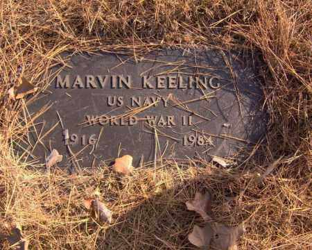 KEELING (VETERAN WWII), MARVIN - Searcy County, Arkansas | MARVIN KEELING (VETERAN WWII) - Arkansas Gravestone Photos