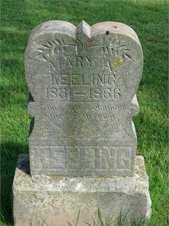 KEELING, MARY A. - Searcy County, Arkansas | MARY A. KEELING - Arkansas Gravestone Photos