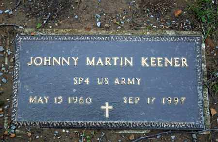 KEENER (VETERAN), JOHNNY MARTIN - Searcy County, Arkansas | JOHNNY MARTIN KEENER (VETERAN) - Arkansas Gravestone Photos