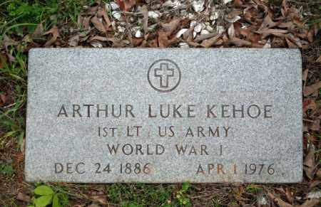 KEHOE (VETERAN WWI), ARTHUR LUKE - Searcy County, Arkansas | ARTHUR LUKE KEHOE (VETERAN WWI) - Arkansas Gravestone Photos