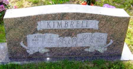 KIMBRELL, ABBIE E. - Searcy County, Arkansas | ABBIE E. KIMBRELL - Arkansas Gravestone Photos