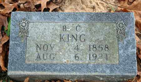 KING, BENJAMIN C. - Searcy County, Arkansas | BENJAMIN C. KING - Arkansas Gravestone Photos