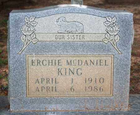 MCDANIEL KING, ERCHIE - Searcy County, Arkansas | ERCHIE MCDANIEL KING - Arkansas Gravestone Photos