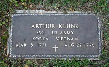 KLUNK (VETERAN 2 WARS), ARTHUR - Searcy County, Arkansas | ARTHUR KLUNK (VETERAN 2 WARS) - Arkansas Gravestone Photos