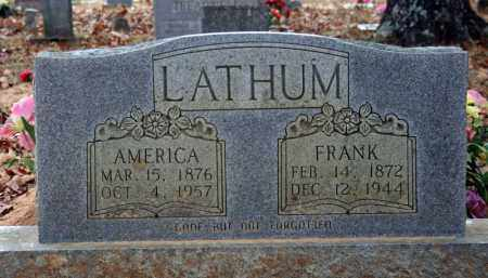 WATTS LATHUM, AMERICA - Searcy County, Arkansas | AMERICA WATTS LATHUM - Arkansas Gravestone Photos