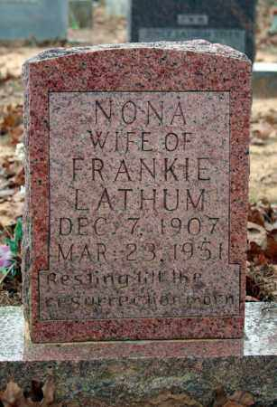 GRAHAM LATHUM, NONA IRENE - Searcy County, Arkansas | NONA IRENE GRAHAM LATHUM - Arkansas Gravestone Photos