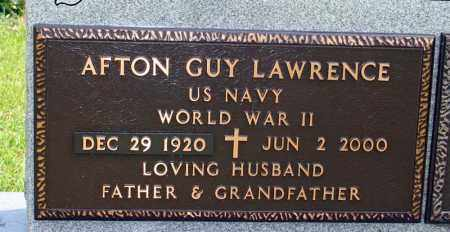 LAWRENCE (VETERAN WWII), AFTON GUY - Searcy County, Arkansas | AFTON GUY LAWRENCE (VETERAN WWII) - Arkansas Gravestone Photos