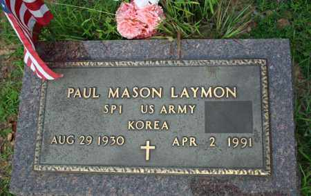LAYMON  (VETERAN KOR), PAUL MASON - Searcy County, Arkansas | PAUL MASON LAYMON  (VETERAN KOR) - Arkansas Gravestone Photos