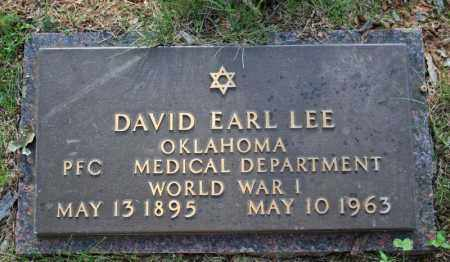 LEE  (VETERAN WWI), DAVID EARL - Searcy County, Arkansas | DAVID EARL LEE  (VETERAN WWI) - Arkansas Gravestone Photos
