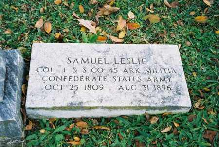 LESLIE (VETERAN CSA), SAMUEL - Searcy County, Arkansas | SAMUEL LESLIE (VETERAN CSA) - Arkansas Gravestone Photos