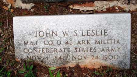 LESLIE (VETERAN CSA), JOHN W - Searcy County, Arkansas | JOHN W LESLIE (VETERAN CSA) - Arkansas Gravestone Photos